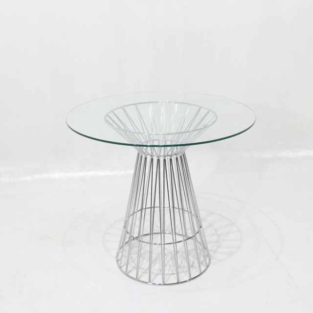 Tavolo Piano Vetro Tondo.Pierre Table Round Dining Table In Steel And Glass Top Ibfor